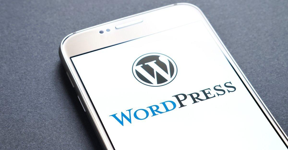 Wordpress logo on smartphone