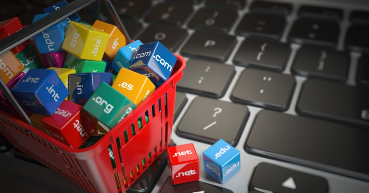 Shopping cart with domains