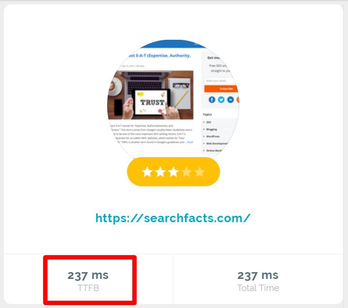 Bytecheck ttfb results