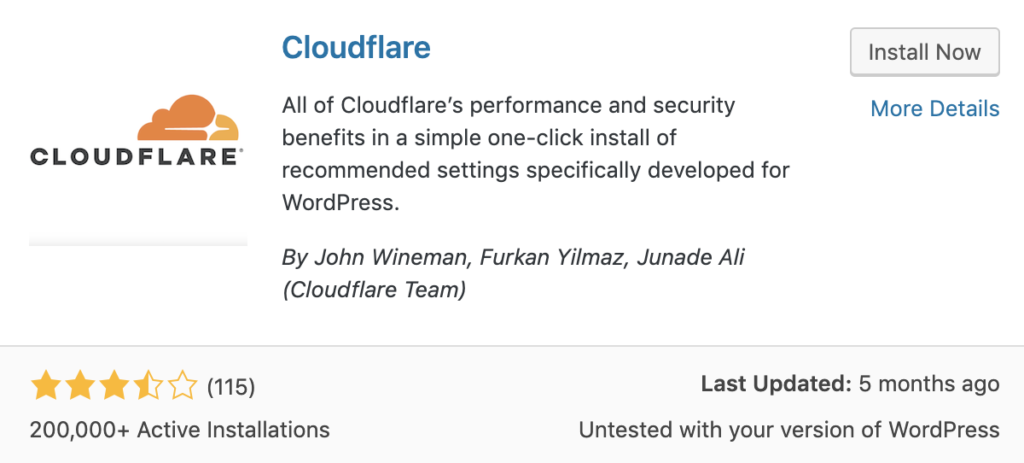 Cloudflare plugin