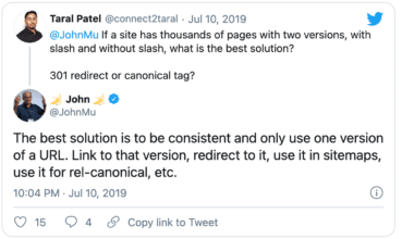 The best solution is to be consistent and only use one version of a URL. Link to that version, redirect to it, use it in sitemaps, use it for rel-canonical, etc.