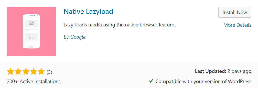 Native lazyload plugin