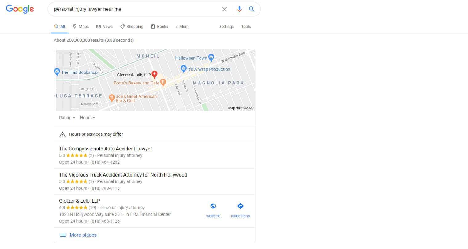 Local SEO Screenshot